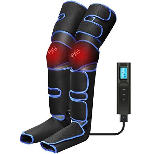 Beine Massagegerät, Elektrisches Fußmassagegerät mit 6 Massagemodi,Luftdruckintensitäten,Bein-Massage-Gerät Kabellos, Gegen Schwellungen und müde mit Heizfunktion