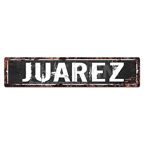 Juárez Man Cave Letrero, Chic rústico calle Placa Cartel Bar Cafe restaurante...