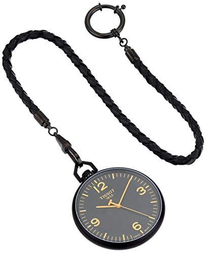 Tissot unisex-adult Lepine Alluminum Pocket Watch Black T8634099905700