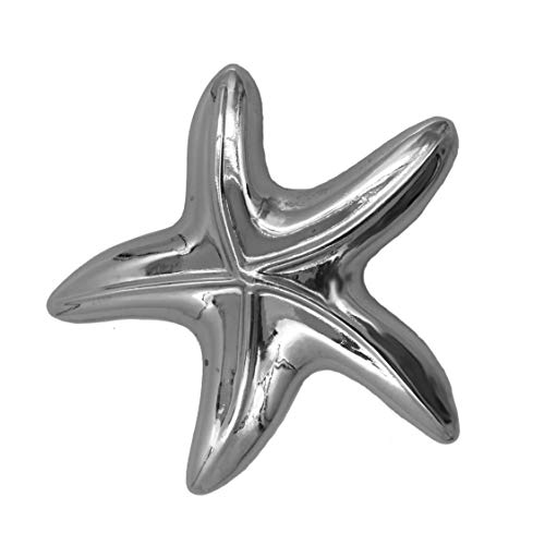 FASHIONCRAFT 4870 Starfish Design Bottle Opener Favors, Shiny Silver Chrome Metal, Pack of 1