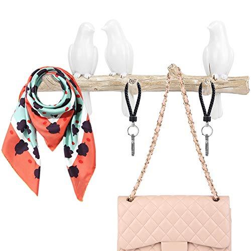 Kleding wandhaken, vogelvorm muurbeugel haak ophangsysteem wandbehang dimensionale garderobe haak voor huishoudelijke voorwerpen decoratie hoed kleding tas haak