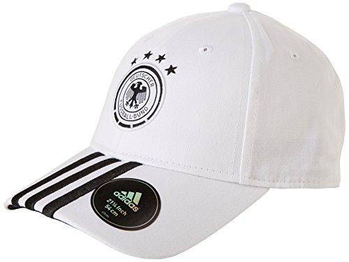 adidas Mütze DFB 3-Streifen Kappe Fußball, White/Black, OSFM