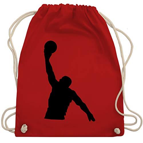 Basketball - Basketballer Wurf - Unisize - Rot - basketball shirt damen - WM110 - Turnbeutel und Stoffbeutel aus Baumwolle
