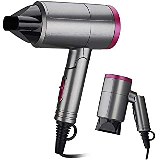 MINI Portable Travel Dryer Foldable Blower Household Hair Dryer Radiation Free Ionic Low Noise Blow Dryer Powerful Hammer ...