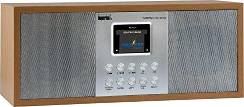 Imperial 22-133-00 Dabman i 30 Internet-/DAB+ Radio (Stereo Sound, Internet/DAB+/DAB/UKW, WLAN, LAN, Aux In, Line-Out, Kopfhörer Ausgang, inkl. Netzteil) Braun-Buche