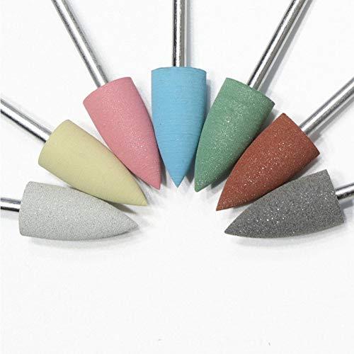 7 pièces Forets à ongles Brosse de nettoyage pour cuticules Fichier de polissage rotatif Fraises pour outils de pédicure de manucure pour salon de manucure