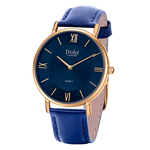 Dohe Mens Wrist Watches Men's Analog Quartz Waterproof Watch, Easy-to-Read Large Face Watches for Men 40MM/1.57'