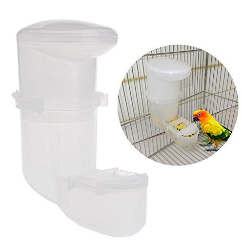 Cuigu Robuster Futternapf Netzteil Automatische Essen-Netzteil Vogeltränke Spender Tier vertraut Papagei auf der Käfig