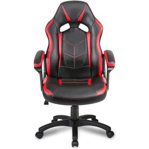64Gril Gaming Stuhl Stuhle Bürostuhl Ergonomisch Gamingstuhl Stuhl Racing Sportsitz Stuhl Chefsessel Schreibtischstuhl Drehstuhl Racing Samt Stuhl mit Armlehne (rot)