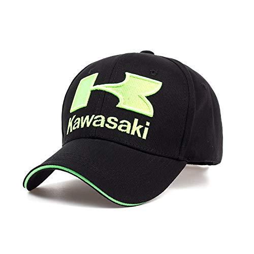 Kawasaki Inicial K Logo Bordado Gorra de Béisbol Ajustable Verde Fluorescente para...