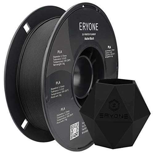 ERYONE Matte PLA Filament, 1.75 mm Filament for 3D Printer, 1 kg (2.2 lbs) / Spool, Matte Black