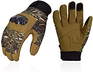 Vgo... Unisex Full Finger Touch Screen Tactical Military Gloves Hard Knuckle Gloves for Hunting, Shooting, Motorcycle, Cycling and Hiking (Camo, SL9657)