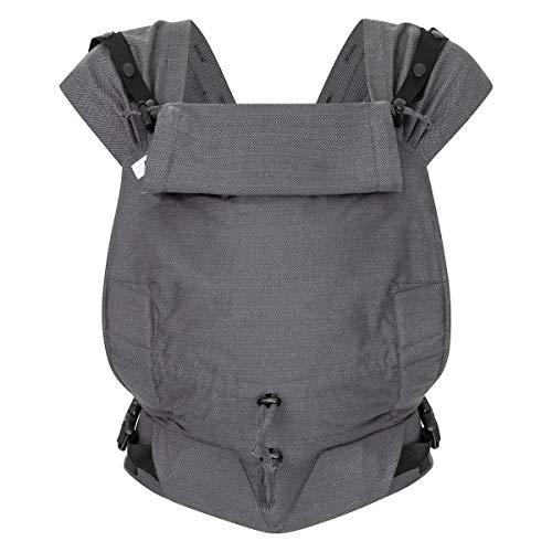 Hoppediz Primeo Full-Buckle Babytrage ✓ ab Geburt ✓ Bauchtrage ✓ Rückentrage ✓ verstellbarer Steg ✓ 100% Bio-Baumwolle | Design Lanzarote