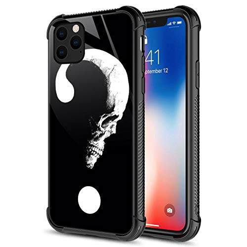 CARLOCA Compatible with iPhone 12 Pro Max Case,Question Mark Skull iPhone 12 Pro Max Cases for Girls,Graphic Design Shockproof Anti-Scratch Drop Protection Case for Apple iPhone 12 Pro Max