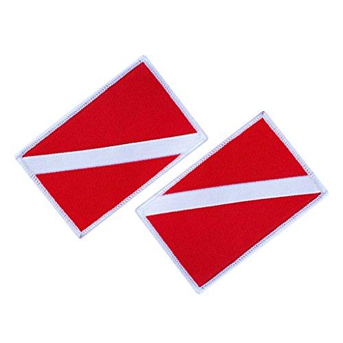 Sharplace Set de 2pcs Patch Emblème pour Drapeau / Pavillon / Sac à Dos / Gilet de Plongée Souvenir Plongeur