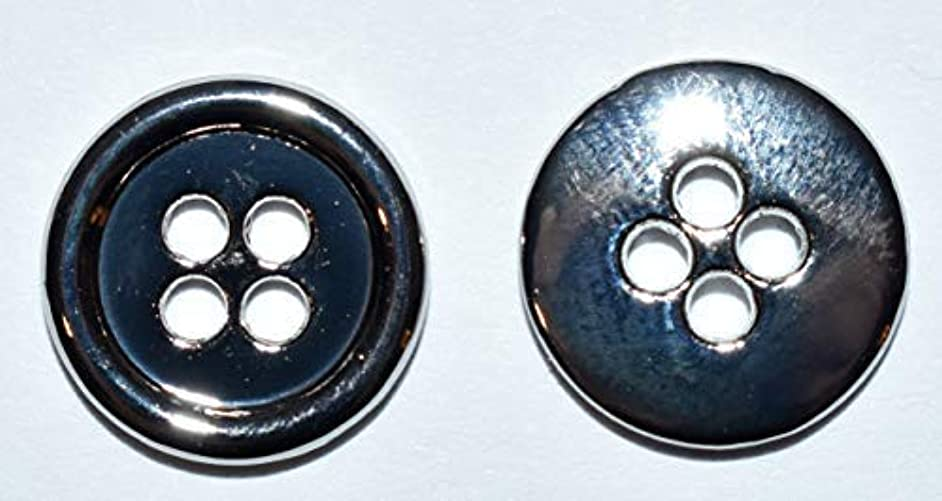 SFG Round 4 Hole Metal Buttons 10MM 3/8