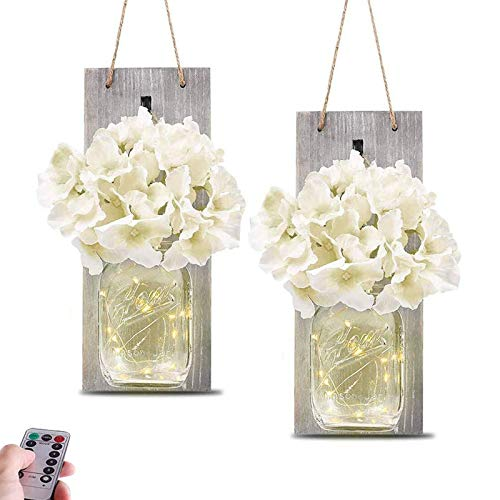 HYLOON Mason Jar Sconce - Best Wall Sconce For Gifting