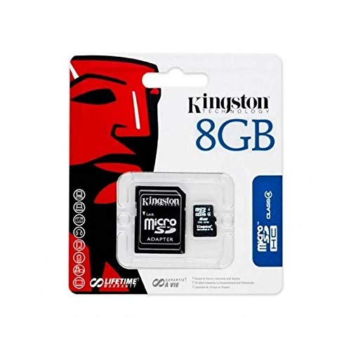 Kingston 8GBKING Speicherkarte, Mikro-SD, für Samsung Galaxy J1/J2/J5/J1 Ace/S3/S4/S5/S5 mini/S6/S6 Edge, 8 GB, schwarz