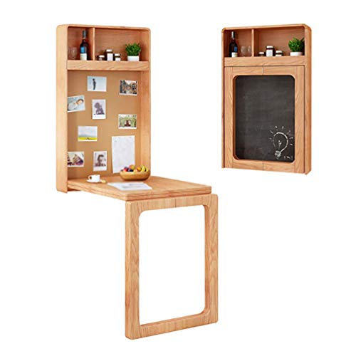 MTYLX Table,Desk,Invisible Home Table Desk with Storage Box and Small Blackboard and Pushpin Display Board,'T' Shaped Solid Wood Feet,Load: 100Kg,Walnut Color,630 * 140 * 1010Mm
