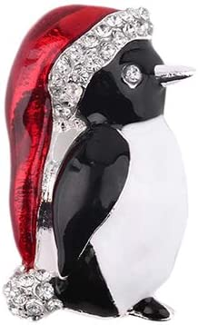 loinhgeo-Cute Women Girl Rhinestone Penguin Brooch Pin Jewelry Xmas Gift Party Decor