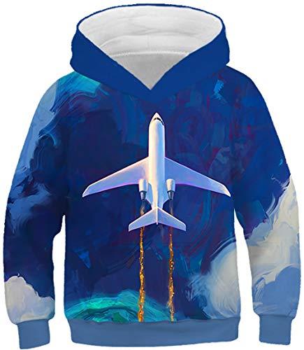 Ocean Plus Niño Manga Larga Sudadera con Capucha Niños Mapa Impresión Digital Sudaderas con Bolsillos Suéter con Capucha (XXS (Altura: 105-110cm), Cubo de Rubik)
