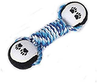 DORLIONA XPangle Dog Toys Chew Bone Rope Ball Pet Toys Tooth Cleaning Cotton Knot Toys for Small Large Dogs Cats Training ...
