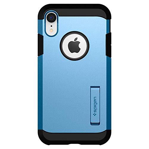 【Spigen】iPhoneXRケース6.1インチ対応[ニューカラー]耐衝撃スタンド機能米軍MIL規格取得カメラ保護傷防止衝撃吸収Qi充電ワイヤレス充電タフ・アーマー064CS25337(ブルー)