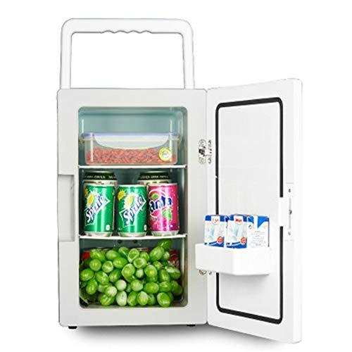 JOMSK El Mini refrigerador portátil 18L Inicio Alquiler de Doble Uso Electrónico de calefacción y refrigeración Caja de Estudiantes Refrigerador Electrico (Color : White, Size : 415x265x345mm)