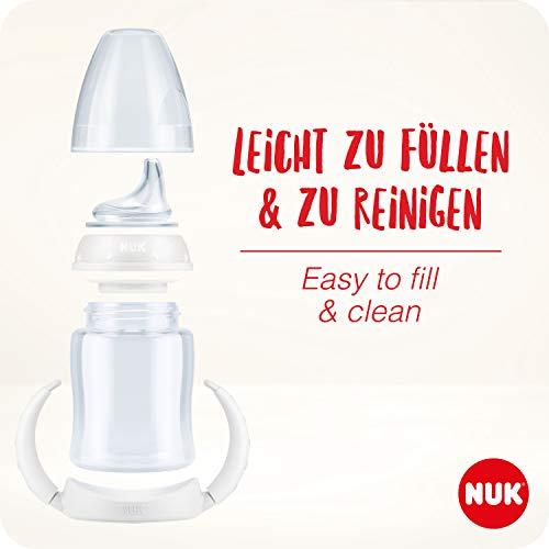 NUK 10215220 Disney Winnie First Choice Trinklernflasche aus PP 150ml, mit Soft-Trinktülle aus Silikon, BPA frei, ab 6 Monate, grün - 8