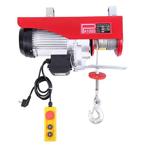 Samger Polipastos Electricos con Cable de Elevación de 12M 500/1000kg 220V Cabrestante Polipasto para Elevador Electrico Electric Winch Host