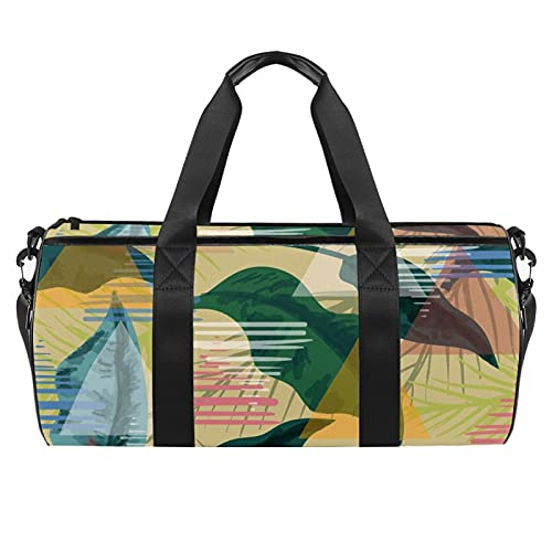 Borsa da palestra sportiva Weekender Duffel per le donne Leaf Multi Fashion Travel Borsa a tracolla