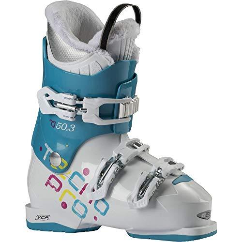 TECNOPRO Kinder Ski-Stiefel G50-3 Skistiefel, Aqua blau/Weiß, 22
