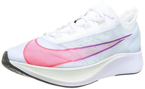 Nike Men's Zoom Fly 3 Running Shoe, White Flash Crimson Spruce Aura Hyper Violet Hyper Jade Racer Blue, 5.5 UK