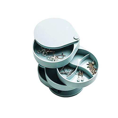 pojhf GYDSSH Caja de joyería, rotación de diseño, Cuatro clasificación Capa, Tres de Almacenamiento Dimensional, Usado for joyería