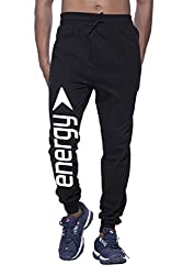Clifton Mens FRL Printed Thermal Sweat Pant-Black-White Energy