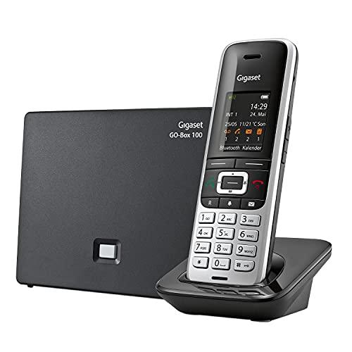 Gigaset SL450A GO - Schnurloses Analog und IP-Handy mit Anrufbeantworter - brillantes Farbdisplay, großes Adressbuch, exzellente Sprachqualität, einstellbare Audioprofile, platin schwarz