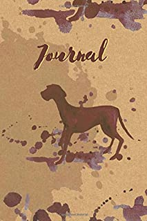 Journal: Unique lined notebook 6x9 120 pages, perfect gift for coffee and animal lovers. Beautiful dog cover design.