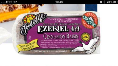 Food for Life, Ezekiel 4:9 Bread, Cinnamon Raisin, Organic, 24 Oz (Cinnanon Raisin, 24OZ)