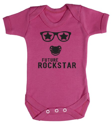 Baby Buddha - Future Rockstar Bodys bébé 0-3 Mois Rose