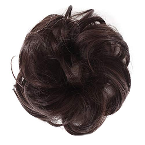 Syfinee Hair Bun Extensions Messy Synthetic Chignon Hairpiece Easy Bun Hair Pieces for Women Hair Updos Easy to Wear Stylish Hair Scrunchies Naturally Messy Curly Bun Hair Extension