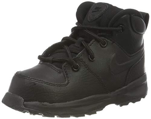 Nike Manoa Leather (TD) Fashion Boot, Black/Black-Black, 26 EU