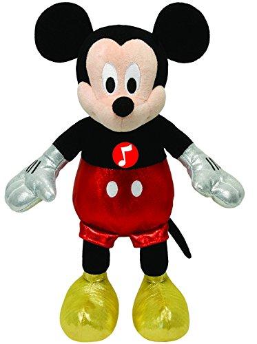 TY 41072 - Disney - Mickey Glitter mit Sound, glitzernde Kleidung, 20 cm