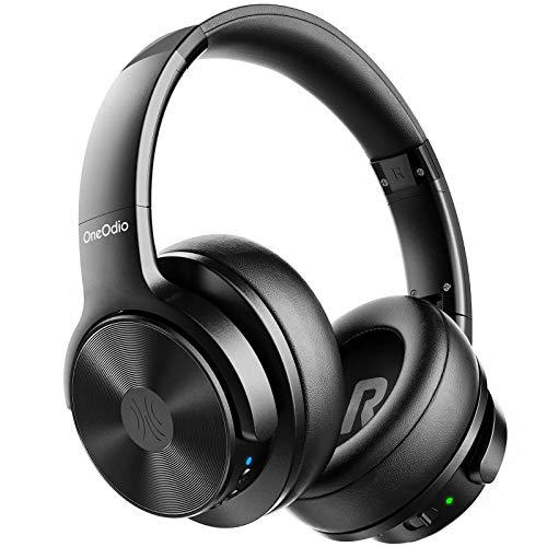 OneOdio Hybrid Noise Cancelling Bluetooth Headphones Over Ear headphone with Hi-Fi Sound Deep Bass Soft Comfortable Earpad CVC 8.0 Clear Call, wireless Headphone for Smart Phones PC Travel