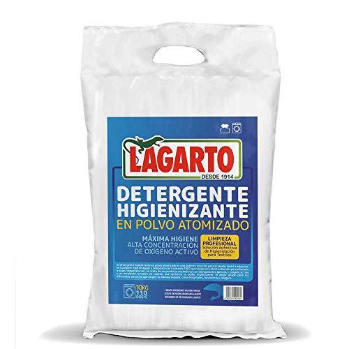 Lagarto Detergente Higienizante en Polvo Atomizado, Saco, Blanco, 10 kg