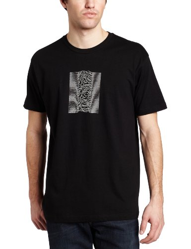 Impact Men's Joy Division Unknown Pleasures With Back Print T-Shirt, Black, Large