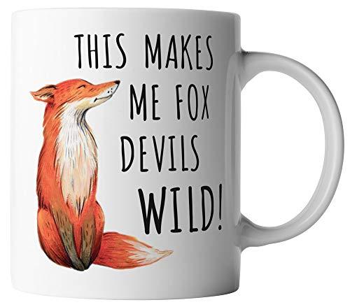 vanVerden Tasse - This makes me fox devils wild! - Denglish Fuchs - beidseitig Bedruckt - Geschenk Idee Kaffeetassen, Tassenfarbe:Weiß