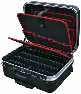 B&W Werkzeugkoffer - integrierten Inline-Rollen + Teleskopbügel (Maße Innen: 485x350x195mm)