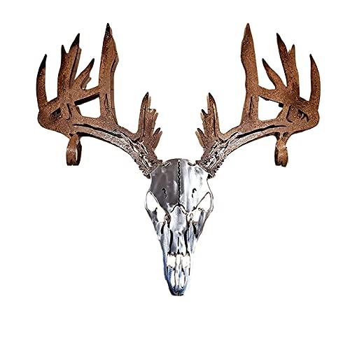 Arco de cráneo de Ciervos de Metal o Rejilla de Escopeta, decoración de Arte de Pared de Metal de Calavera para el hogar, Dormitorio, Oficina
