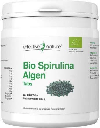 Bio Spirulina Tabletten (1060 Stück) | 500mg hochdosiert | 100{266a791292bd3c53e938307310a6e62698d9d36ca521fd7177b2d9ec7d50dd0e} Rein | Vegane Presslinge | OHNE Magnesiumstearat | Abgefüllt und kontrolliert in Deutschland (DE-ÖKO-006)