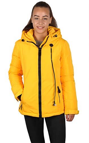 Grimada 7M93 Damen Skijacke Winterjacke TARORE mit Kapuze (42, gelb)